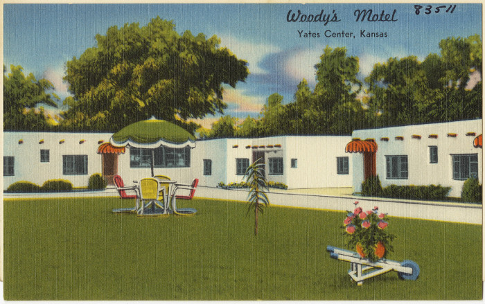 "7. ""Woody's Motel, Yates Center, Kansas."""