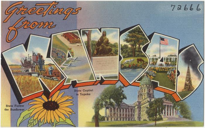 "6. ""Greetings from Kansas."""