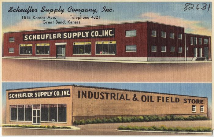 "3. ""Scheufler Supply Company, Inc., 1515 Kansas Ave., Great Bend, Kansas."""