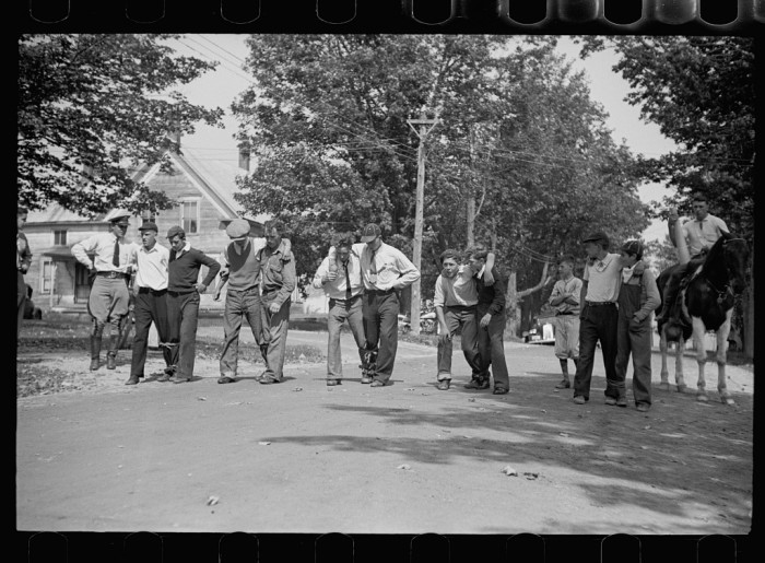13.  Start of the three-legged race. Fair at Albany, Vermont.