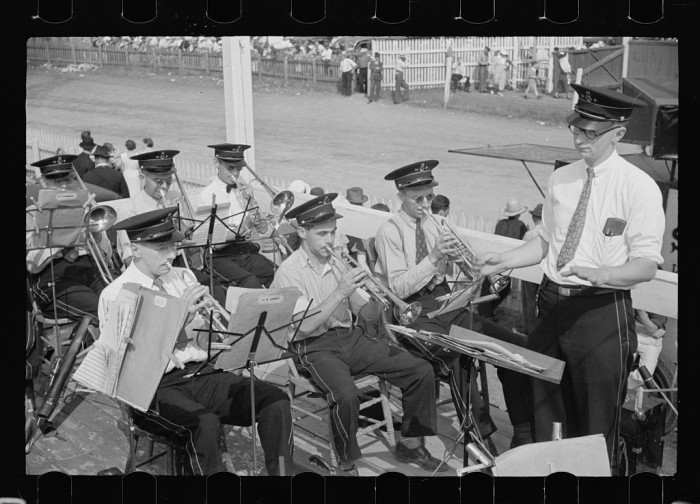 10.  Band at the annual fair in Morrisville.