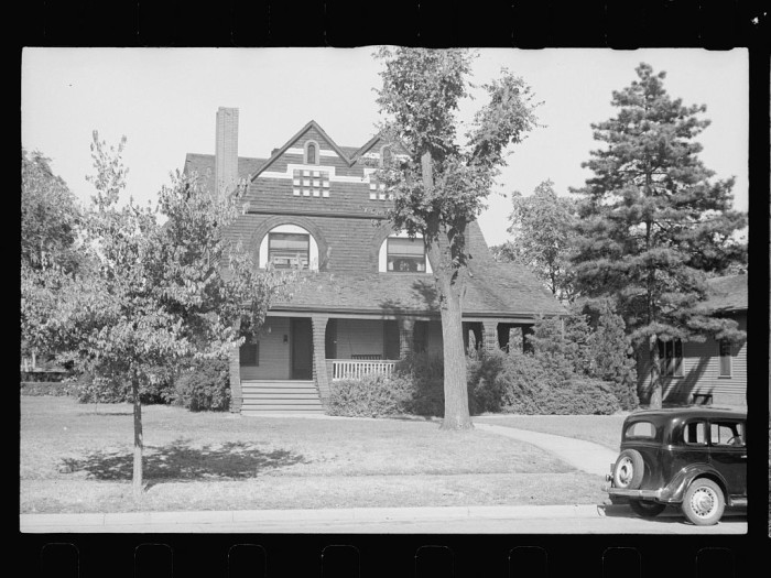 1. A huge, regal home located in Beatrice. Many of these homes were constructed decades earlier and stood out in stark contrast to the poverty of the Depression era - 1938.