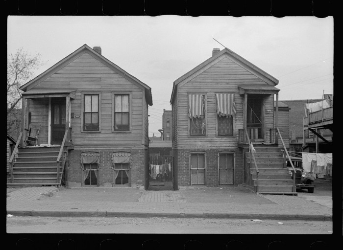 """8. These homes in Omaha were considered """"slum"""" homes - 1938."""