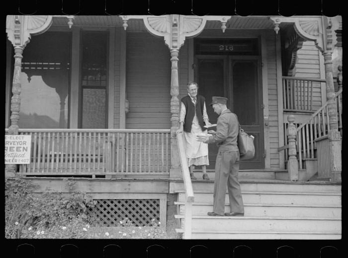 14. Morning mail, Omaha, Nebraska - 1938