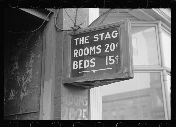 15. Flophouse on lower Douglas Street, Omaha, Nebraska - 1938