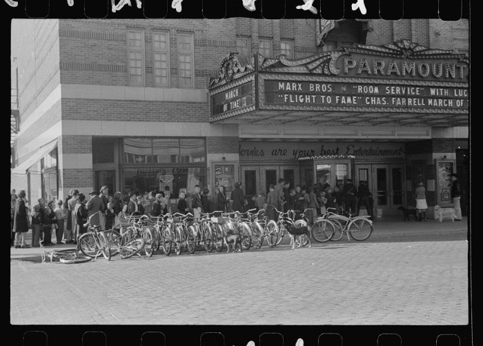 18. Saturday morning movie crowd, North Platte, Nebraska - 1938
