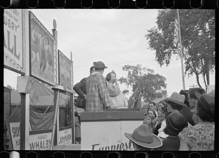 18.  Sideshow at the State Fair in Rutland.