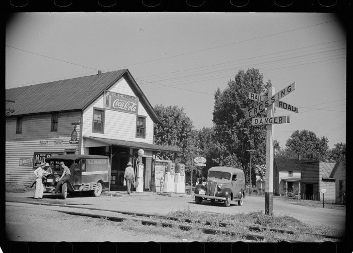 11. General store and railroad crossing in Atlanta, Ohio