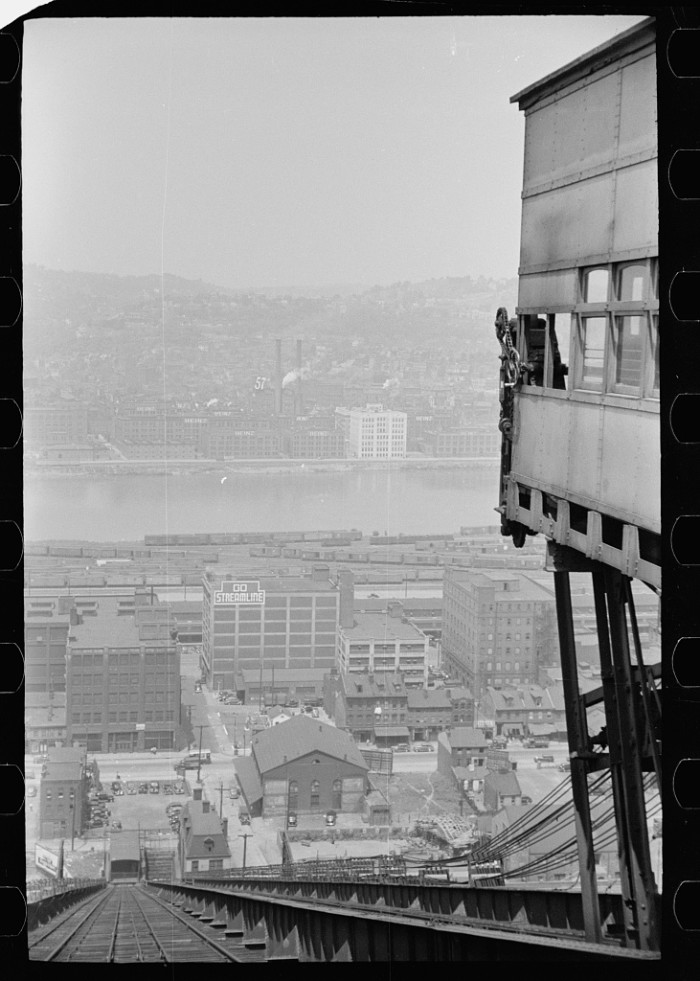 10. Pittsburgh's most iconic scenery, the view from the inclined railway, hasn't changed as much as you might expect since this photo was taken in 1938.