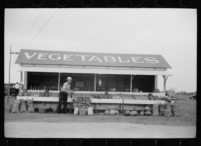 7. A vegetable stand.