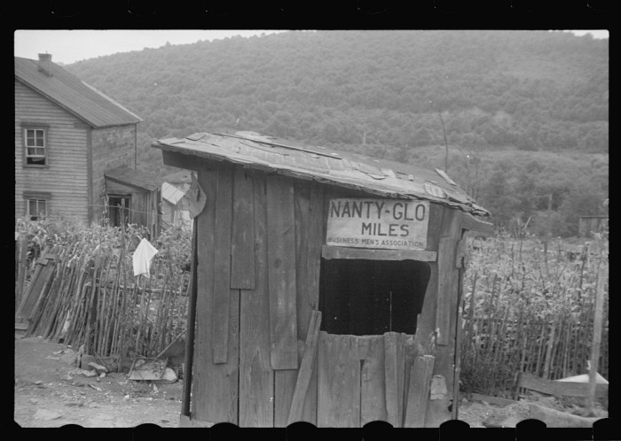 3. This ramshackle shed and the house in the background stood in Nanty Glow, PA.