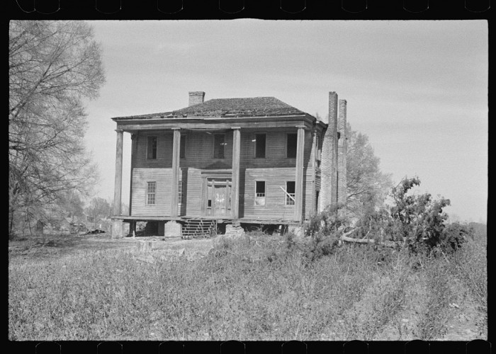 5. Abandoned plantation house, Monticello, Georgia - March 1936