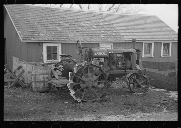 4. This Farmall tractor sits on a farm near Estherville.