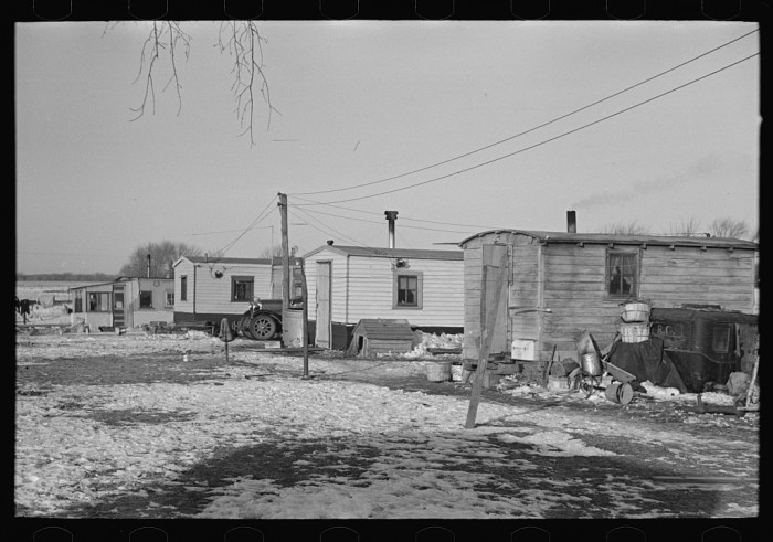 """2. This photo shows part of """"Shantytown"""" in Spencer."""