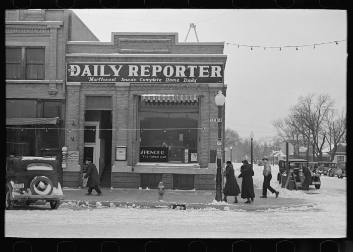 6. A local newspaper, like the Daily Reporter in Spencer.