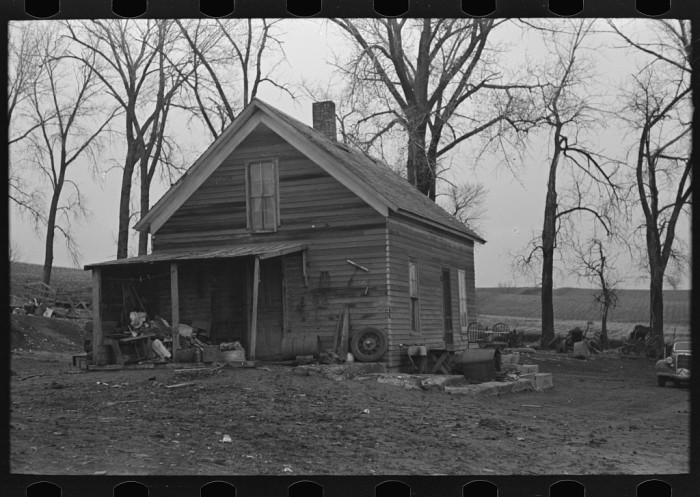 7. This farmhouse near Anthon may not look like much to us, but during the Depression era, this house would have been above average.
