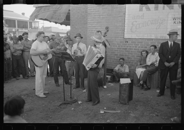 12. Finding a live band playing on the street or outside of a store was a treat, especially midday!