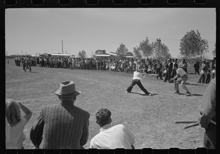 3. Or you got to play sports in the community, like these kids playing baseball during an annual recreation day.