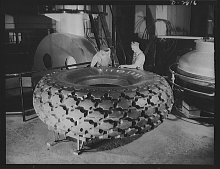 Tire manufacturing: Final inspection of the world's largest tire