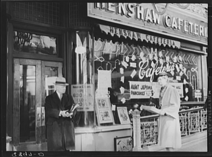 29. Henshaw Cafeteria, Omaha's most popular eating place. Omaha, Nebraska - 1938