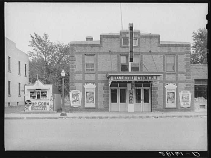 13. There were also motion picture theaters for entertainment. This one is in Farmington.