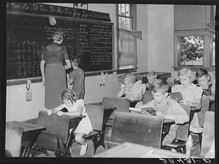 8. A schoolhouse where you can bet the teacher knew your name, along with everyone else's in the class.