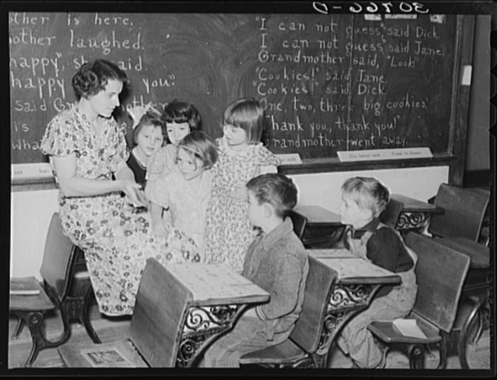 "7. ""Education in rural school. Williams County, North Dakota"""
