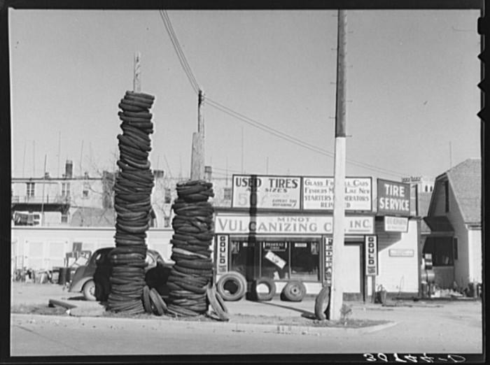 "8. ""Used tires. Minot, North Dakota"""