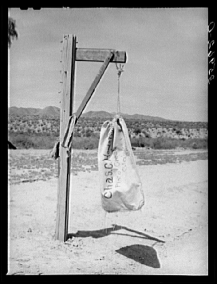 14. Even mail left and arrived a little differently than it does today. This one was at Pinto Creek, a tiny little place between Roosevelt Lake and Globe, in 1940.