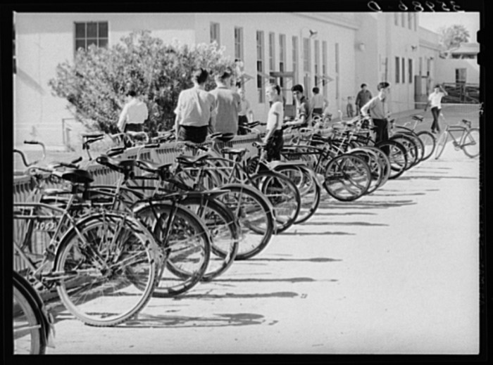 6. Sometimes it also meant riding your bicycle everywhere.