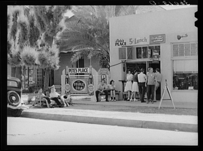 11. Some other students are getting their meal at Pete's Place, which was likely near the high school.