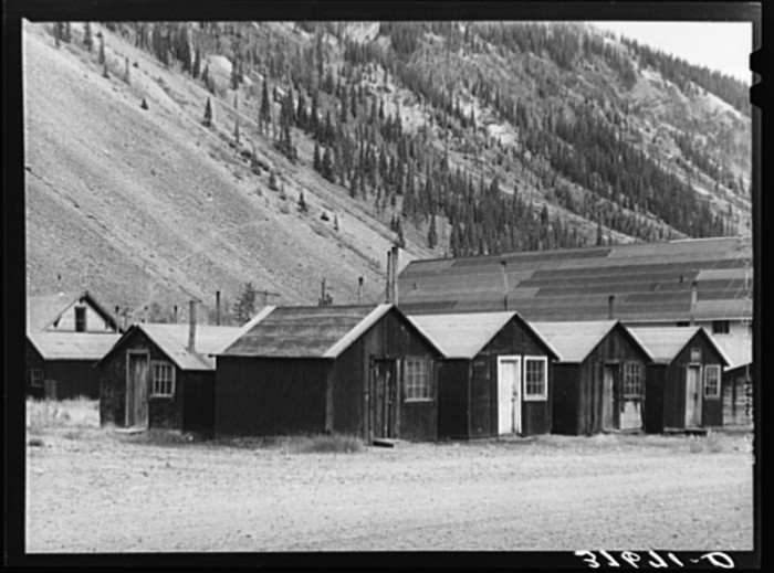 """5. """"Houses which were used by miners in the ghost gold mine town of Eureka."""""""