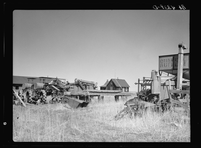 9. The home of a wheat farmer-speculator was built on the cheap while he invested most of his money in machinery - 1936.
