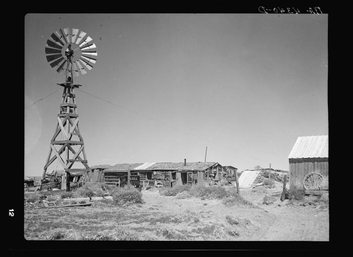 15. In some parts of the state, people were still living in sod houses like this one in Box Butte County in the 1930s. The building material was cheap enough to make it affordable to just about anyone - 1936.