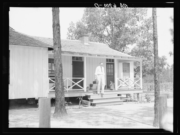 12. Dr. Herman Dismude leaving a home visit in Ocilla, Georgia - June 1936