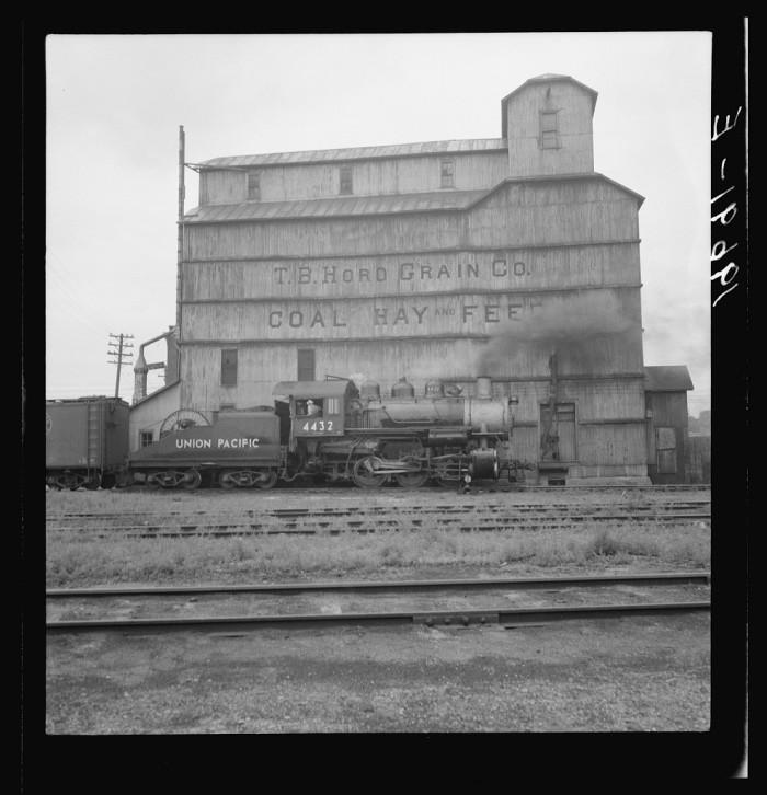 34. Grain elevator along railroad yard. North Platte, Nebraska - 1939