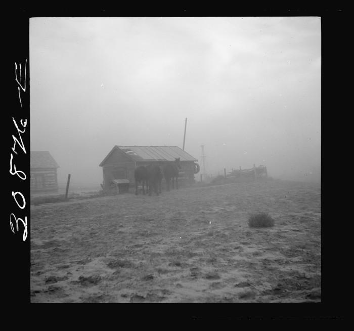 """6. """"Dust storm near Williston, North Dakota"""""""