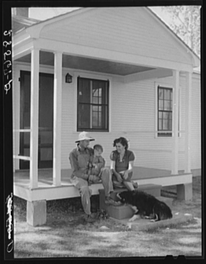 "2. ""Carl Higgins family, tenant purchase borrowers, on their farmstead."""