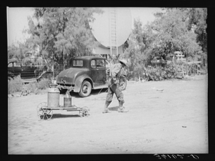 13. It was even still a common occurrence in parts of 1940 Phoenix. This man is also hauling water to his home.