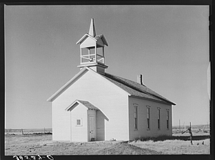 "7. ""Country church on Highway 83."""