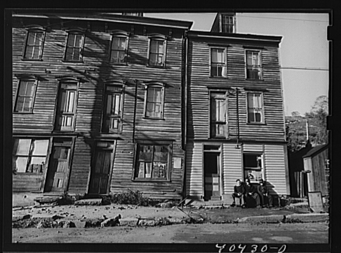 11. Some houses in Shenandoah, a coal town, in 1938.