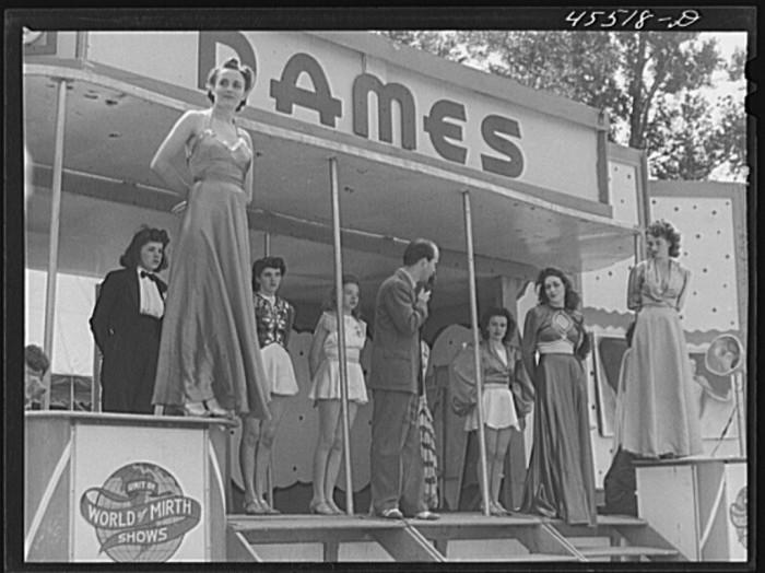 """2.  The """"girlie"""" show at the Rutland Fair."""
