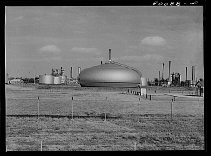 "2. ""Oil refinery. Augusta, Kansas. White Eagle Division of Mobil Gas."""