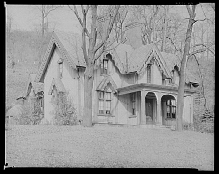 6. This gorgeous Victorian house in Easton looks like something out of Hansel and Gretel. This picture was taken in 1935 by Walker Evans.