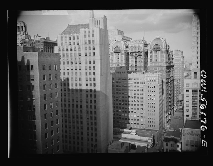 1. To begin with, here's a shot of downtown Philadelphia, looking east over Walnut and 15th streets. It was taken in 1939.