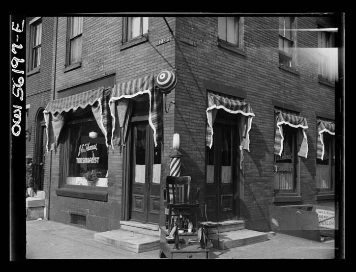 Barber Shop Philadelphia : ... is a barber shop on 19th & Bainbridge Streets in Philadelphia, 1937