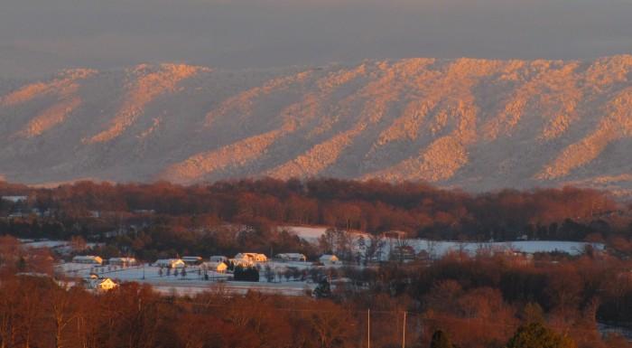 9) A snowy Blount County