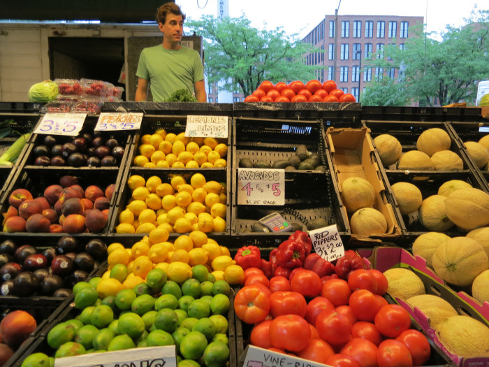 9.It's easy to find farmer's markets, pick your own food, and flea markets.