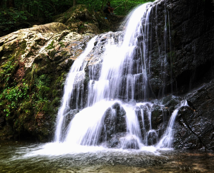 3) Cascade Falls. One of our state's several waterfalls.
