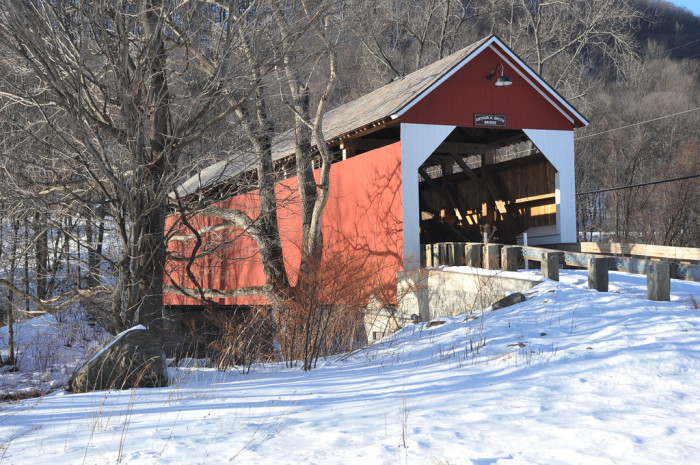 2. The Arthur A. Smith covered bridge on Lyonsville Road in Colrain is as pretty as a postcard.